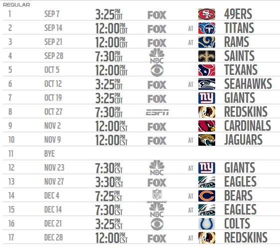 dallas cowboys schedule 2014 - photo #1