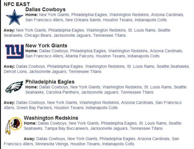 2014 2015 NFL Schedule 2014 2015 – 2014 2015 Dallas Cowboys Schedule