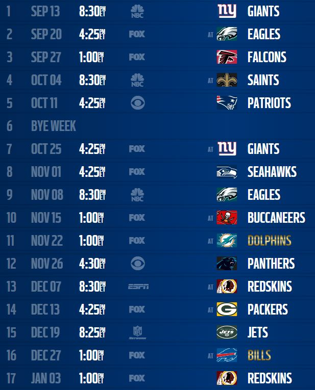 807a69b7d33 Dallas Cowboys Schedule. The Boys Are Back 2015-2016 ...