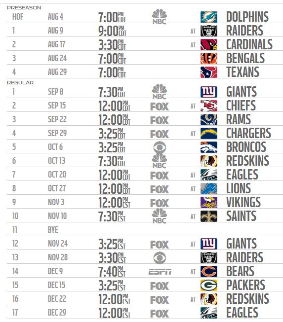 Printable NFL Schedule
