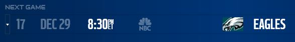 DALLAS COWBOYS SCHEDULE UPDATE - NFL flexes Philadelphia Eagles vs. Dallas Cowboys to SNF for NFC East title game - Revised NFL Dallas Cowboys schedule