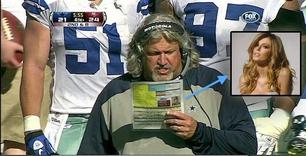 Dallas Cowboys DC Rob Ryan play chart is personalized