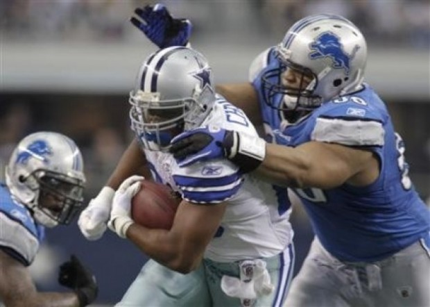 Detroit Lions defensive tackle Ndamukong Suh vs Dallas Cowboys offense