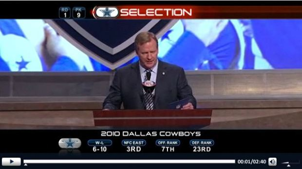 2011 NFL Draft - Dallas Cowboys select Tyron Smith - first round