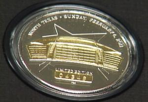 2011 Superbowl coin - Cowboys Stadium - February 6 2011
