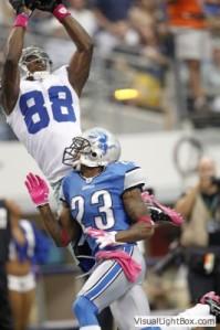 Dallas Cowboy Diamond Dez Bryant vs Detroit Lions in Cowboys Stadium
