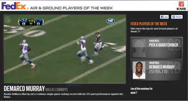 FedEX Player of the Week - Click on picture to VOTE