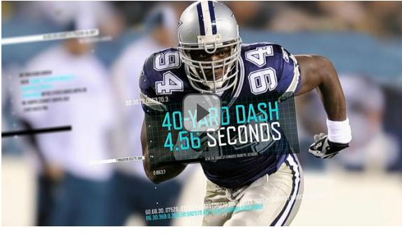 VIDEO - Dallas Cowboys DeMarcus Ware speed - The Boys Are Back blog