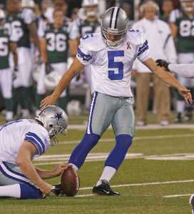 Dallas Cowboys kicker Dan Bailey