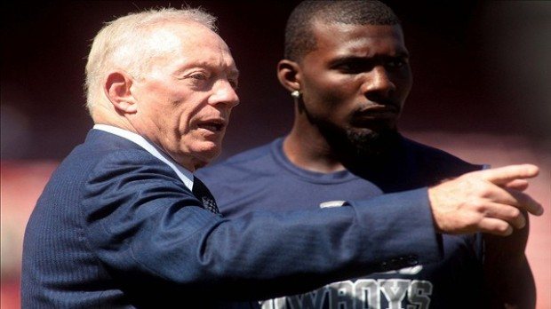 Dallas Cowboys owner Jerry Jones and wide receiver Dez Bryant