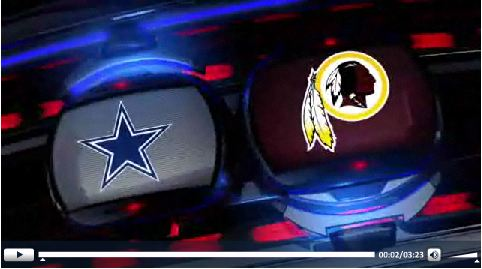 VIDEO - Dallas Cowboys vs Washington Redskins - Press play