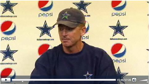 Jason Garrett Press Conference - Friday - Press play