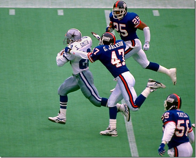 dallas cowboys emmitt-smith vs new york giants