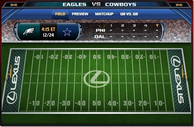 GAMETRAX - Dallas Cowboys vs. Philadelphia Eagles