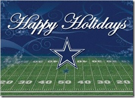 Happy Holidays from the Dallas Cowboys - The Boys Are Back blog