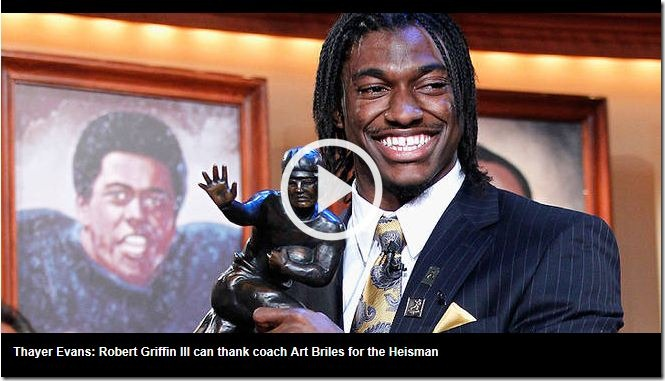 Heisman 2011 winner Robert Griffin III of Baylor