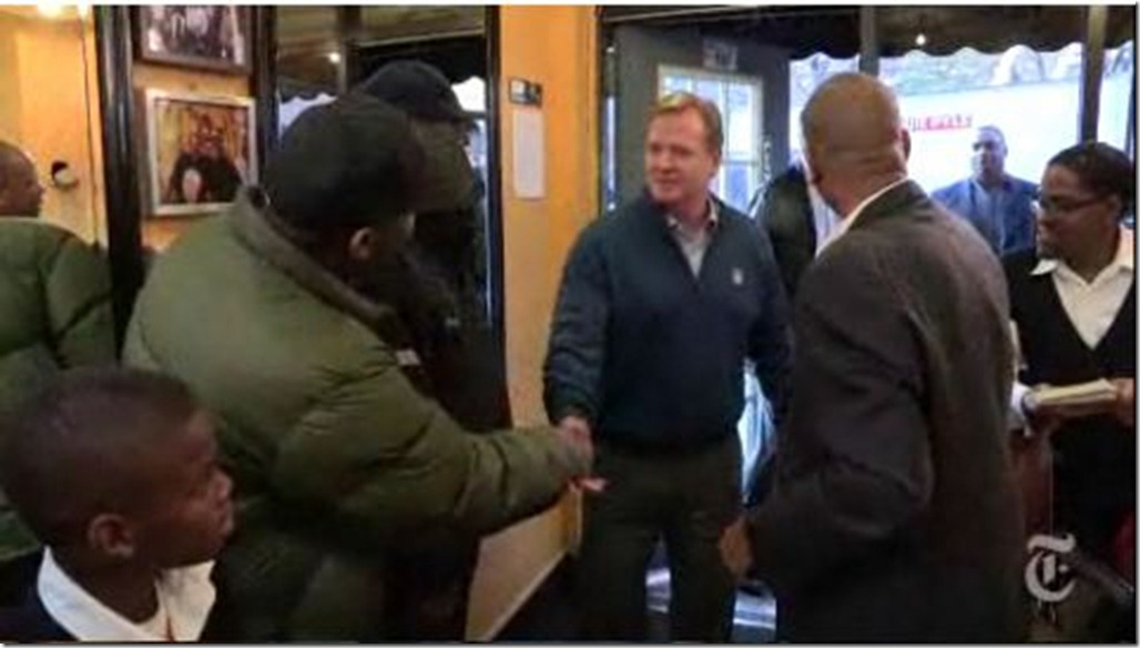 Roger Goodell - Barber shop