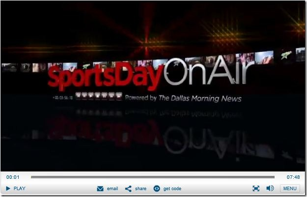 VIDEO - SportsDay On-Air show - Press play