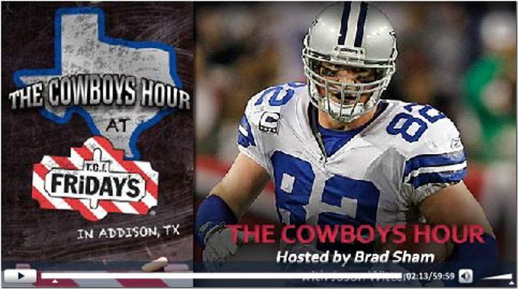 Video - TGIF Dallas Cowboys hour with Jason Witten and Brad Sham - Press play