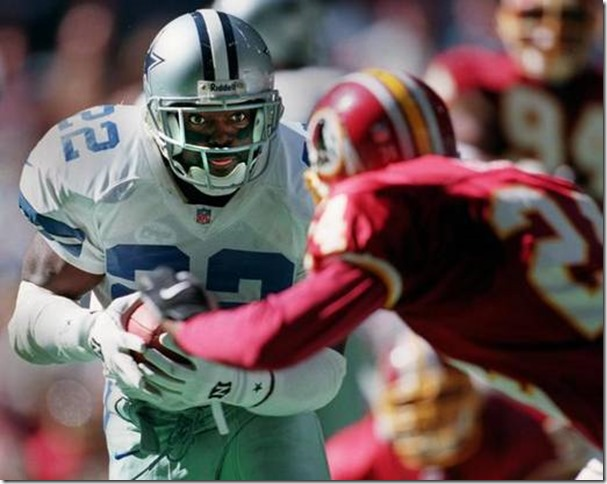 Emmitt Smith: Looking back, it's simply incomprehensible that Smith fell to the No. 17 overall pick in the 1990 draft. If the first 16 teams had a do-over on that one, Smith would go no lower than first. By the time he retired after the 2004 season, he was football's all-time rushing leader.  After two years with Arizona, he signed a one-day contract with the Cowboys so that he could retire as a Cowboy — as it should be.