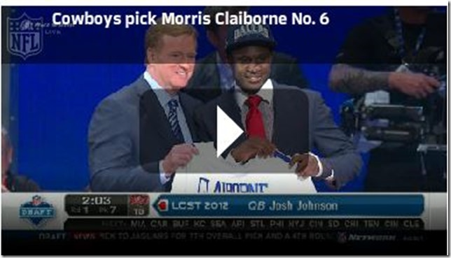 Dallas Cowboys draft LSU cornerback Morris Claiborne - NFL Draft 2012 - The Boys Are Back blog