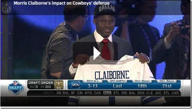 Video - Morris Claiborne impact on the Dallas Cowboys defense - The Boys Are Back blog