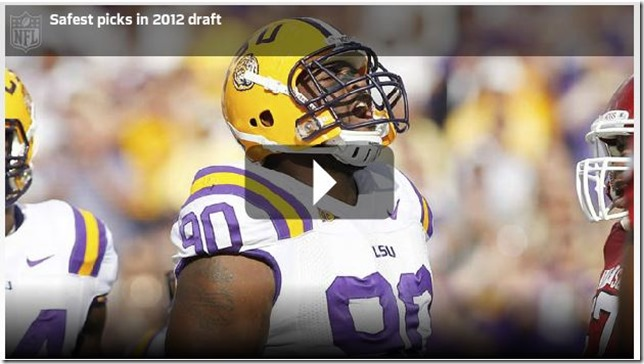 Video - Safest picks in the 2012 NFL Draft - The Boys Are Back blog - Press Play