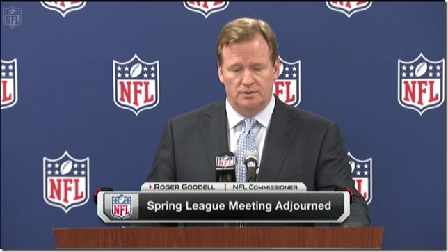 Video - Roger Goodell NFL Commissioner press conference - The Boys Are Back blog