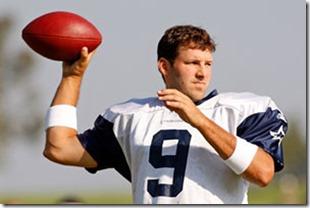 Dallas Cowboy QB Tony Romo - Dallas Cowboys quarterback - The Boys Are Back blog