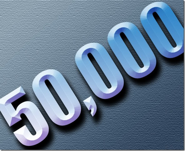 50000 hits - Thank you - The Boys Are Back blog