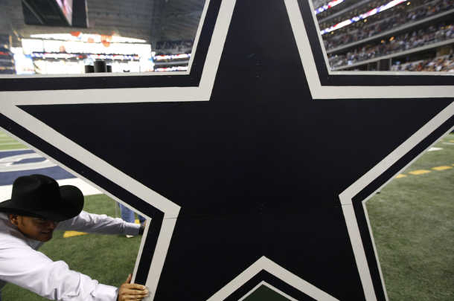A large Dallas Cowboys star is moved off the field - Symbolic of the 22 players that will be cut Friday - The Boys Are Back blog