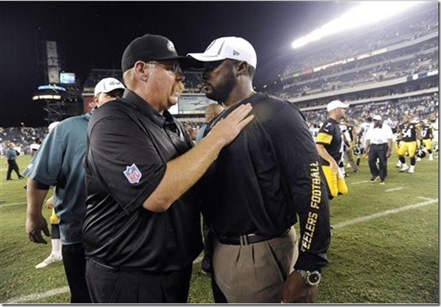 Andy Reid with Mike Tomlin - The Boys Are Back blog
