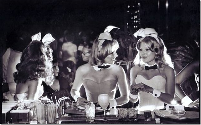 BUNNIES - DALLAS PLAYBOY CLUB - Bunnies chat at the bar of the Dallas Playboy Club, July 27, 1977.