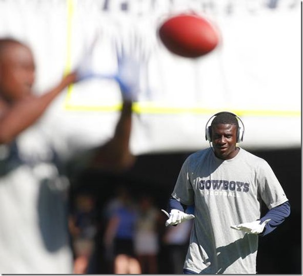 Dallas Cowboys cornerback Morris Claiborne (24) listens to music prior to the game - The Boys Are Back blog