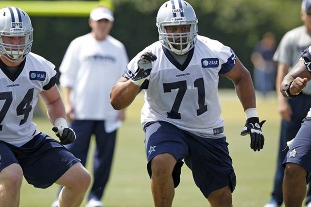 Dallas Cowboys guard Ronald Leary practices - The Boys Are Back blog