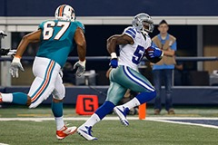 Dallas Cowboys linebacker Orie Lemon interception return - The Boys Are Back blog