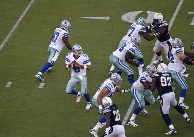 Dallas Cowboys OL vs San Diego Chargers - preseason 2012 - The Boys Are Back Blog