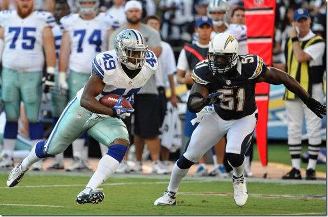 Dallas Cowboys running back Jamize Olawale - vs SD - The Boys Are Back blog