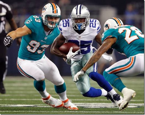 Dallas Cowboys running back Lance Dunbar rushed for 105 yards on 15 carries with a 7.0 yard average in preseason finale victory over Miami - The Boys Are Back blog