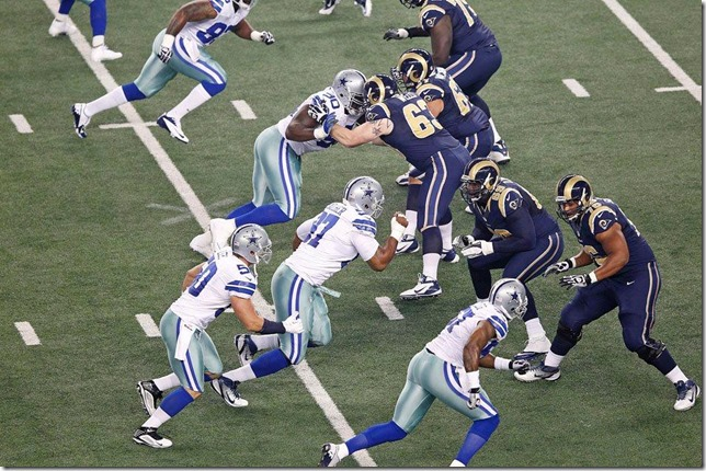 Dallas Cowboys vs St Louis Rams - Defensive line vs Offensive line - The Boys Are Back blog