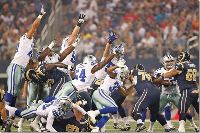 Dallas Cowboys vs St Louis Rams - Defensive rush and block - The Boys Are Back blog