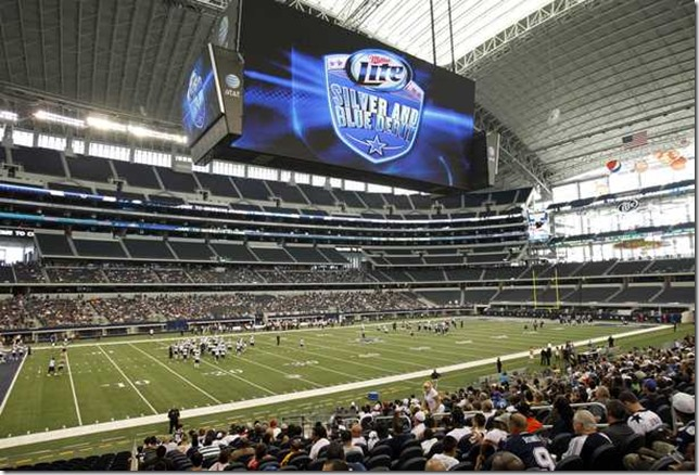Fans attend the 2012 Dallas Cowboys Silver & Blue Debut at Cowboys Stadium - The Boys Are Back blog