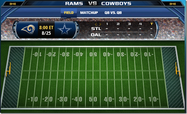 GAMETRAX - Dallas Cowboys vs. St. Louis Rams