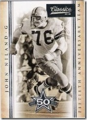 John Niland Guard Dallas Cowboys - 50th Anniversary Team - The Boys Are Back blog