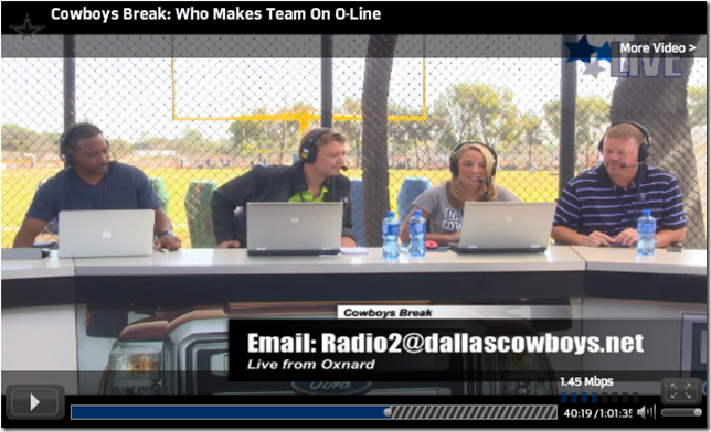 VIDEO - Cowboys Break show - The Boys Are Back blog