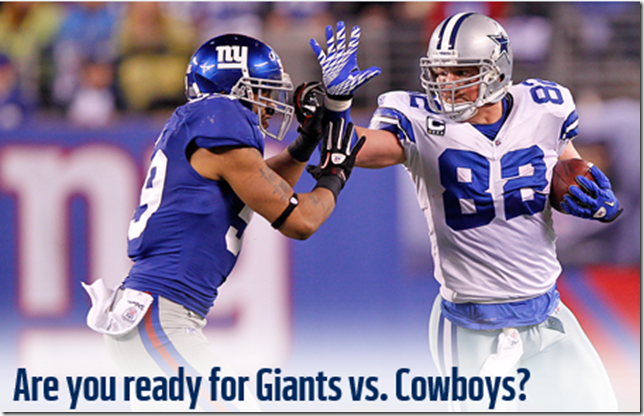 Are you ready for the New York Giants vs. Dallas Cowboys - The Boys Are Back blog