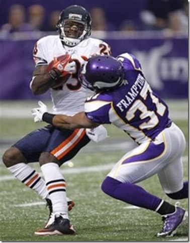 Chicago Bears wide receiver Devin Hester (23) is tackled by safety Eric Frampton - The Boys Are Back blog