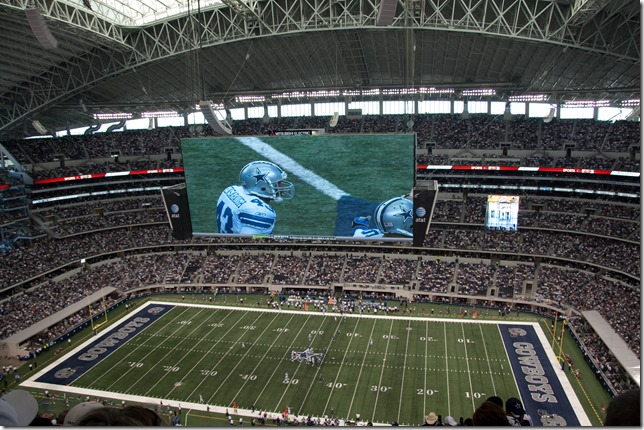 AT&T Stadium - Cowboys Stadium screen - The Boys Are Back blog
