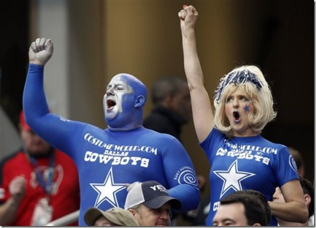 Dallas Cowboys fans cheer - The Boys Are Back blog