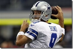 Dallas Cowboys quarterback Tony Romo (9) warms up - The Boys Are Back blog